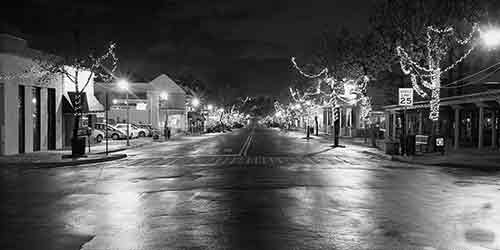 Downtown La Mesa Village at Night